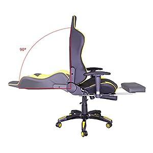 414FikgyiDL. SS300  - HG-Silla-giratoria-de-oficina-Silla-de-juego-Apoyabrazos-acolchados-Comfort-premium-Silla-de-carreras-Capacidad-de-carga-200-kg-Altura-ajustable-negro-amarillo