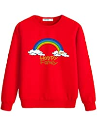 Family Set, Beautiful Rainbow Tops Pullover Sweater Camisetas de manga larga Pullover Sudaderas (divididas en normales y gruesas)