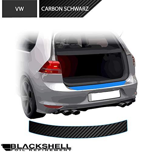 BLACKSHELL Ladekantenschutz inkl. Premium Rakel für Golf 7 Variant Typ AU 2012-2019 Carbon Matt - passgenaue Lackschutzfolie, Auto Schutzfolie, Steinschlagschutz, Stoßstangenschutz