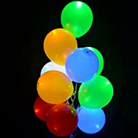 Globos Led, colores 10 unidades ENTREGA 1-3 DÍAS