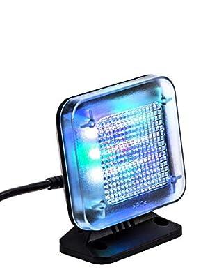 kobert goods - LED TV-Simulator, durch Lichtsimulation zum Einsatz als Einbruchschutz, Home-Security, Fernseh-Atrappe/Fake-Fernseher, mit 12 LED's und 3 wählbaren Programmen, Zeitschaltuhr von KOBMX