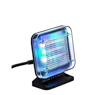 kobert goods - LED TV-Simulator, durch Lichtsimulation zum Einsatz als Einbruchschutz, Home-Security, Fernseh-Atrappe/Fake-Fernseher, mit 12 LED's und 3 wählbaren Programmen, Zeitschaltuhr