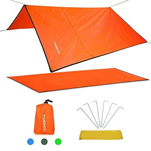 TOMSHOO Multifunzionale Telo Stuoia Campeggio Tappetto Impermeabile per Escursionismo Picnic