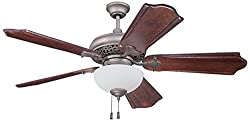 Craftmade MI52AO Mia Ceiling Fan with Blades Sold Separately and White Frost Glass, Athenian Obol, 52