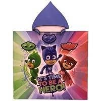 PJMASKS Poncho con capucha toalla microfibra PJ Masks Hero 55 x 110 cm