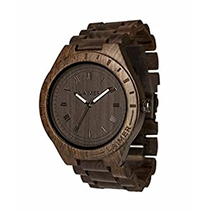LAiMER Holzuhr Black Edition – Herren Armband-Uhr aus feinem Sandelholz für besonderen Lifestyle – natürlich, federleicht, Südtirol