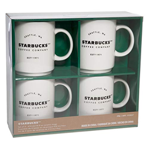0b8aec11ed1016 Starbucks Coffee Company 14 OZ Ceramic Mugs Gift Set - 4 Pack