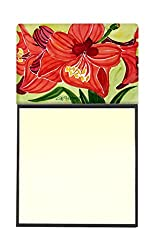 Carolines Treasures Flower-Amaryllis Refillable Sticky Note Holder or Postit Note Dispenser, 3.25 by 5.5, Multicolor
