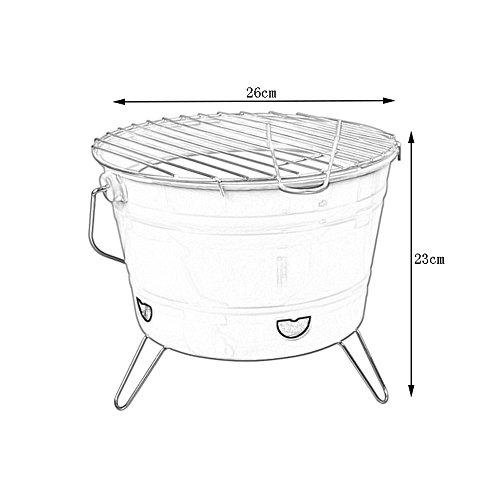 Barbacoa- 2~3 Personas Cubo computadora de sobremesa calefacción de la casa Estufa de carbón brasero de calefacción (Color : Black)