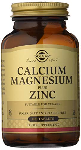 Solgar, Calcium Magnesium Plus Zinc Tablettes, 100 -