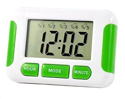 Digital-Uhr mit 5einstellbaren Alarmen, Stoppuhr, Erinnerungshilfe für Tabletten (Uhr Alarm Timer Pille)