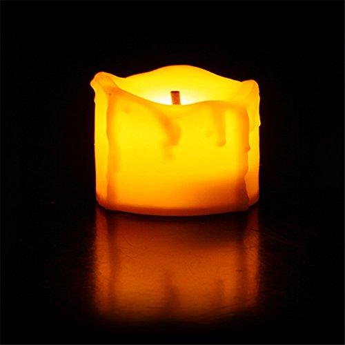 LED Novela Eléctrica Batería Tealight Velas con Emite Luz Amarilla Tibia Cálida Luz de Vela Sin Llama Blanca que acampa Vela Lámpara LED Decorativa para Vacaciones / Decoración Del Hogar de la Boda