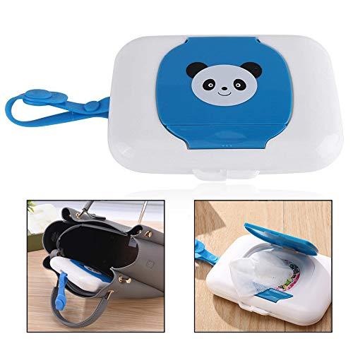 Xrten Baby Feuchttücher Aufbewahrungsbox,Wet Wipes Box Reise Feuchttücher Box(Panda)