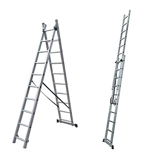 Generic ** TR EN131 - Escalera Extensible de Aluminio, Extensible