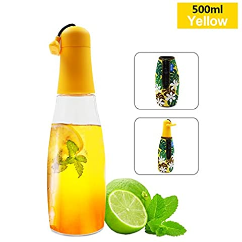 Biite Portable Sport Outdoor 500ML Tritain BPA Free Leakproof Yellow Water Bottle