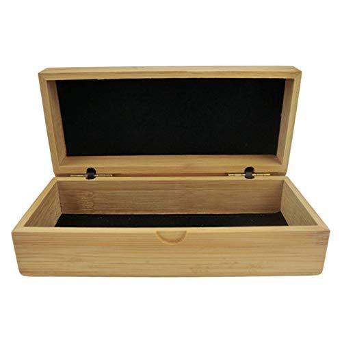 Ballylelly-Rechteckige Sonnenbrille Fall handgefertigte natürliche Bambus Holz Sonnenbrille Box