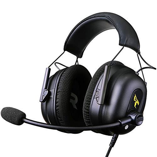 Somic G936N Tragbares Gaming-Headset mit integrierter 7.1-Soundkarte, überdrahtete Ohrhörer, kompatibel mit Mac, PC, Xbox, Computer, Heimkino