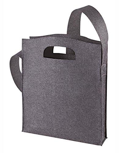 HALFAR® HF7536 Shopper Modernclassic Freizeittaschen Einkaufstaschen Tasche, Farbe:Anthracite anthracite