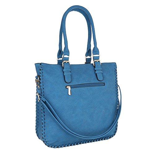 Ital-Design, Borsa a spalla donna Blau