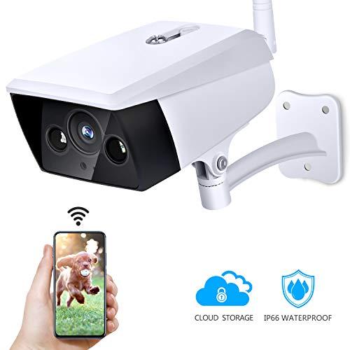 KAMTRON 1080P Überwachungskamera Aussen WLAN Kamera- IP66 Wasserdichtes WiFi Cloud Sicherheitskamera mit Bewegungserkennung, Zwei-Wege-Audio,30m Infrarot Nachtsicht für Garten,Lager und Outdoor