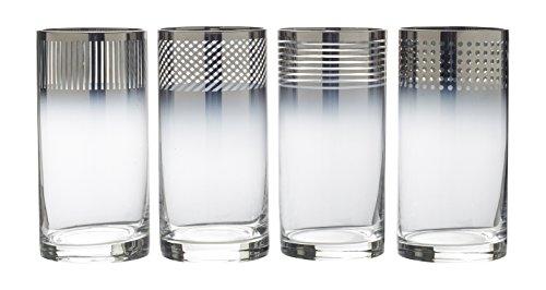 Mikasa Cheers Metallic Ombre Highball Glass, 18-Ounce, Set of 4 by Mikasa Mikasa Cheers Highball