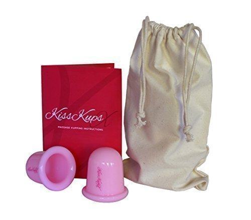 Coupelles large massage silicone anti-cellulite rose x2 avec instructions complètes