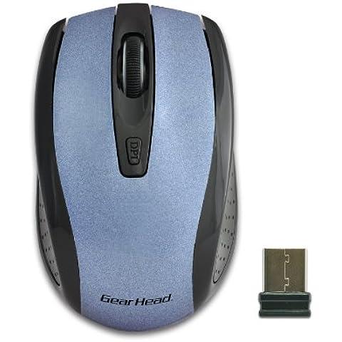 Gear Head MP2125BLU - Ratón (RF inalámbrico, Óptico, Oficina, USB, Nano, Baterías)