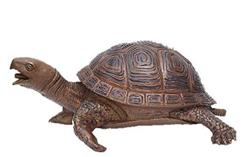 Bronze Schildkröte, Wasserspeier, Tierfigur für Garten & Teich