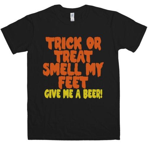 Pantera Music T-shirt (Refugeek Tees - Herren Trick Or Treat Smell My Feet T Shirt - Medium - Black)