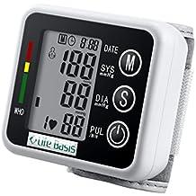 LifeBasis Sfigmomanometro da Polso misuratore di pressione arteriosa - Nero
