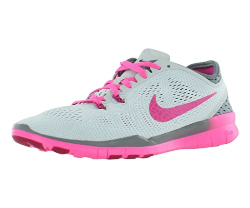 Nike W Free 5.0 Tr Fit 5 Brthe, Scarpe sportive, Donna Grau (Pure Platinum/Fireberry-Cool Grey-Pink Pow)
