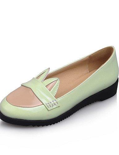WSS 2016 Chaussures Femme-Bureau & Travail / Habillé / Décontracté-Noir / Vert / Rose-Talon Compensé-Compensées / Confort / Bout Arrondi-Talons- black-us6.5-7 / eu37 / uk4.5-5 / cn37