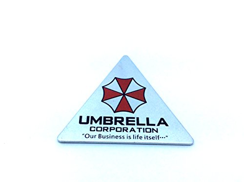 Umbrella Corporation Dreieck Resident Evil Metall Auto Aufkleber Abzeichen Decal