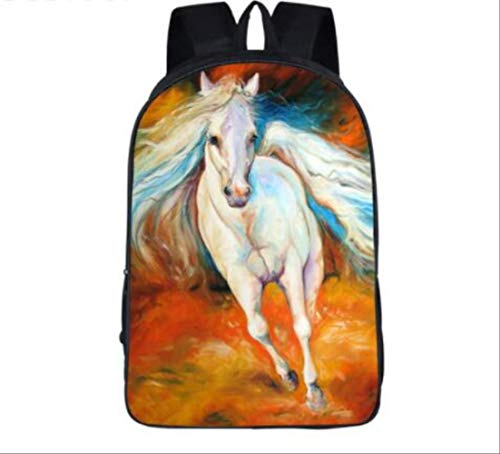 HPADR Kinderrucksack Ölmalerei War Horse Rucksack Für Teenage Kinder Pony Rucksäcke Jungen Mädchen Mädchenschule Taschen pro - Kleinkind Pro Vans-lo