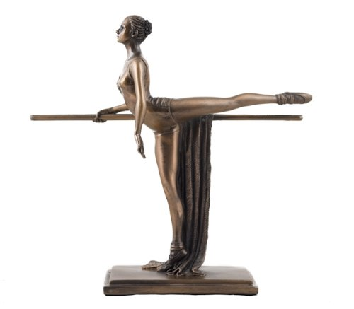 Kunst-Deko Bronzefigur Ballerina