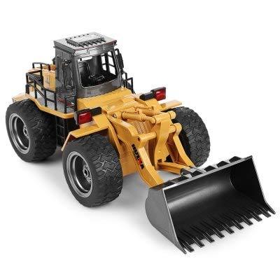 RC Baufahrzeug kaufen Baufahrzeug Bild 1: s-idee® 18146 S1520 Rc Radlader Bagger 1:18 mit 2,4 GHz schwenkbare Schaufel Huina 1520*