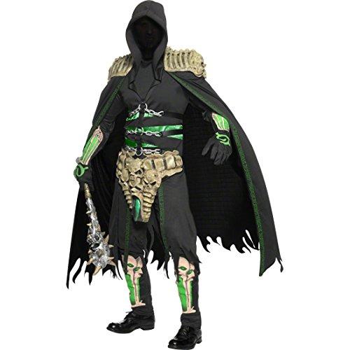 Preisvergleich Produktbild Soul Reaper Kostüm schwarz-grau M 48/50 Skelettkrieger Halloweenkostüm Seelenfänger Seelen Schänder Herrenkostüm Halloween