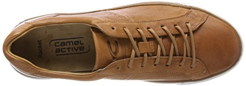 camel active Herren Racket 17 Sneaker Braun (Scotch)