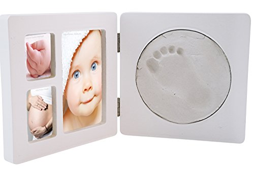 Preisvergleich Produktbild Bieco 76000019 - Handabdruck und Bilderrahmen Erinnerungsset