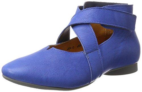 Think Damen Guad Geschlossene Ballerinas, Blau (Jeans/Kombi 84), 42 EU