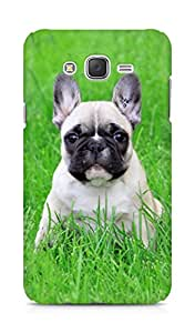 Amez designer printed 3d premium high quality back case cover for Samsung Galaxy J7 (French bulldog puppy)