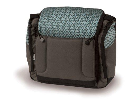 Imagen principal de Hoppop 32130058 - Bolsa para pañales con cambiador y asiento para bebé, diseño estampado (2 en 1), color marrón