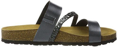 Lico Bioline Glitter, Chaussons Bas Femme Anthracite
