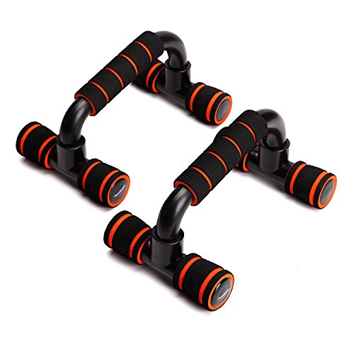 Readaeer pushup - Pushup Bar soporte para Flexiones ,color negro--naranja
