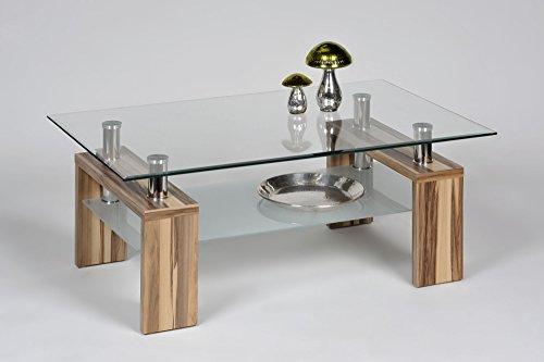 ... Proline Alfa Tische Dolce 2147 Couchtisch Balitimore Nussbaum Klarglas  Und Satiniertes Glas ...