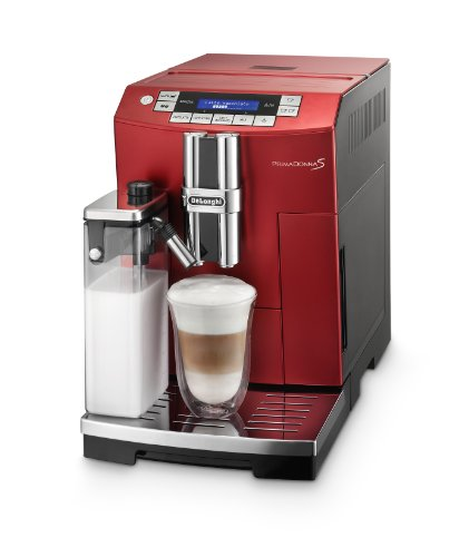 DeLonghi ECAM 26.455.RB One Touch Kaffee-Vollautomat PrimaDonna S (Milchbehälter) rot