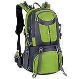 CBYNY Zaino da Viaggio Alpinista Arrampicata Pacchetto di Grande capacità Due Spalla 50L Nylon Materiale Unisex,Green,50L
