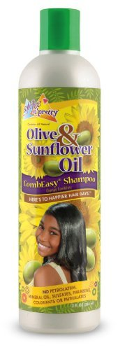 Sofn'freen'pretty Olive & Sunflower Oil Combeasy Shampoo 12oz by Soft 'n Free Gro Healthy by Soft 'n Free Gro Healthy