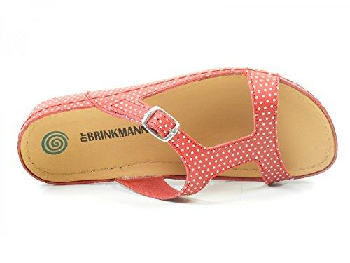 Dr. Brinkmann 701034 Schuhe Damen Pantoletten Sandalen Clogs Rot