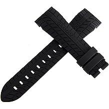 OEM Graham Silverstone nero cinturino in gomma Watch Band 24mm